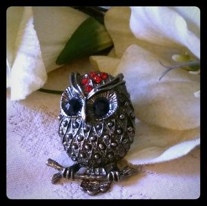 Vintage Large Perched Owl Ring